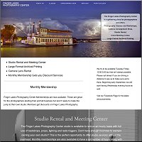 website for Finger Lakes Photography Center, Canandaigua, NY