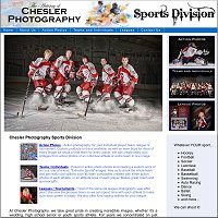 website for Chesler Photography Sports Division, Canadaigua, NY