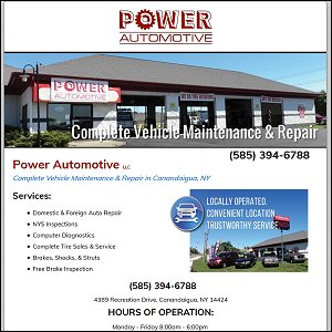 Power Automotive website - Canandaigua, NY